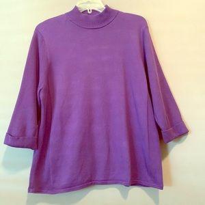 Ladies Style & Co turtleneck cotton sweater